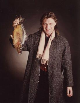 Günther Willen mit Fisch