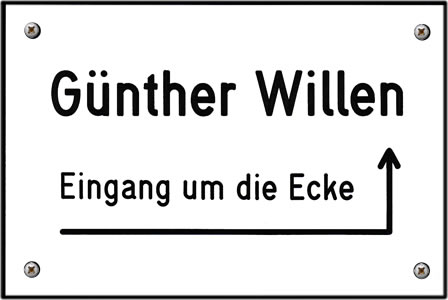 Günther Willen - Eingang um die Ecke - Logo